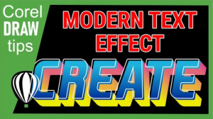 Creating a modern text effect in CorelDraw