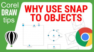 Why use the snap to object setting in CorelDraw