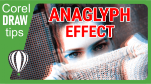 Creating an anaglyph 3D effect in CorelDraw