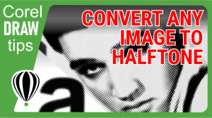 Converting any photo to halftone in CorelDraw