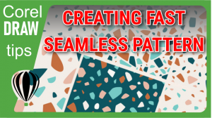 Creating a seamless pattern in CorelDraw