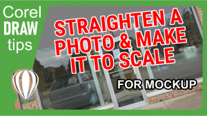 Straighten a photo and make it to scale.