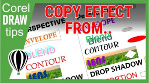 The use of copy effects in CorelDraw