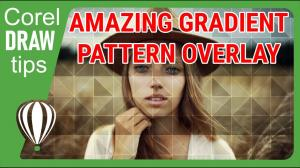 Creating a gradient pattern overlay in CorelDraw