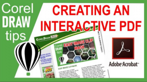 Creating an interactive pdf in CorelDraw