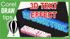 Creating 3D text effects using blend