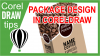 Creating a package design in CorelDRAW