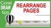 Rearranging pages in CorelDraw