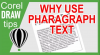 Using Paragraph Text in CorelDraw
