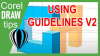 Using guidelines in CorelDRAW