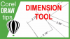 Parallel Dimension tool in CorelDRAW