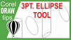 3 Pt Ellipse Tool in CorelDraw