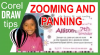 Zooming and panning in CorelDraw