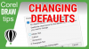 Changing Document Defaults in CorelDraw