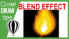 Using the blend effect in creating a vector flame in CorelDraw
