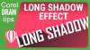 Creating a long shadow effect