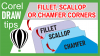 Creating fillet (rounded), scallop and chamfer corners in CorelDraw